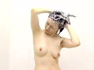 Hot Asian gal Solo shower