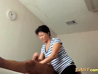 Asian Massage Studio couch Old Asian Son Makes Customer Burst out with