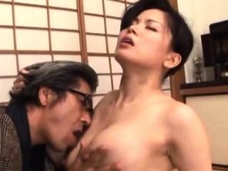 Breathtaking elder hardcore action with a japanese babe