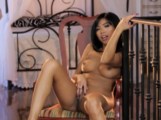 Microscopic Asian Ember Snow's Solo Masturbation Is Breathtaking