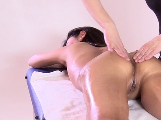 First time massage masking of hot virgin Asian